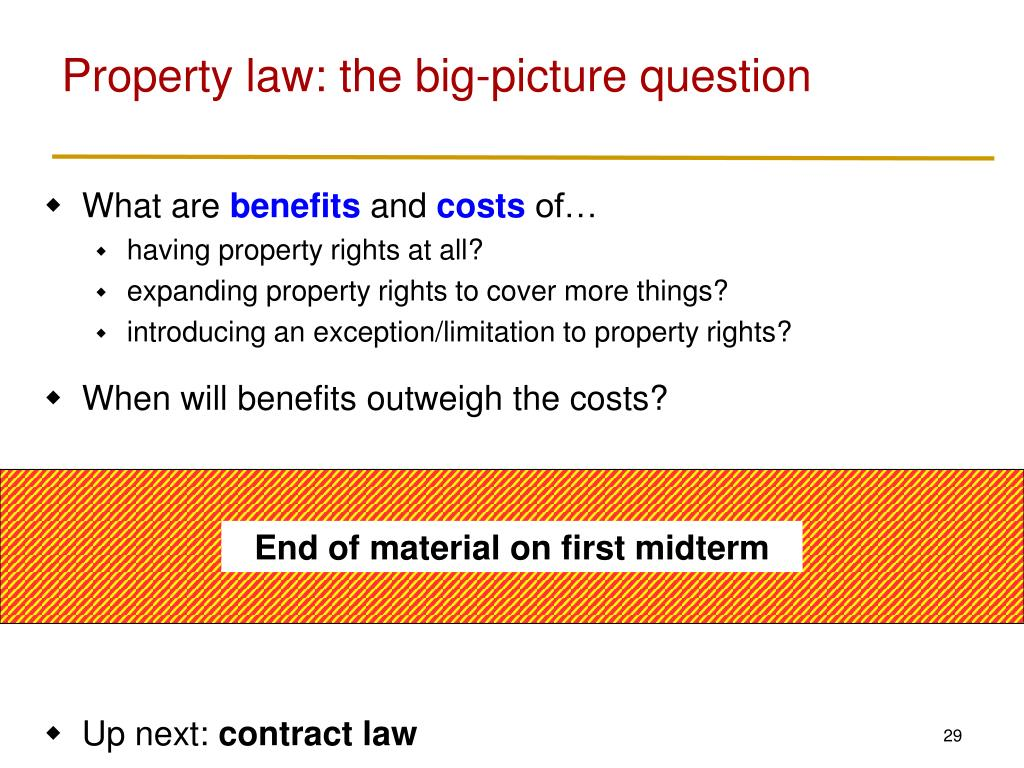 Property law: the big-picture question