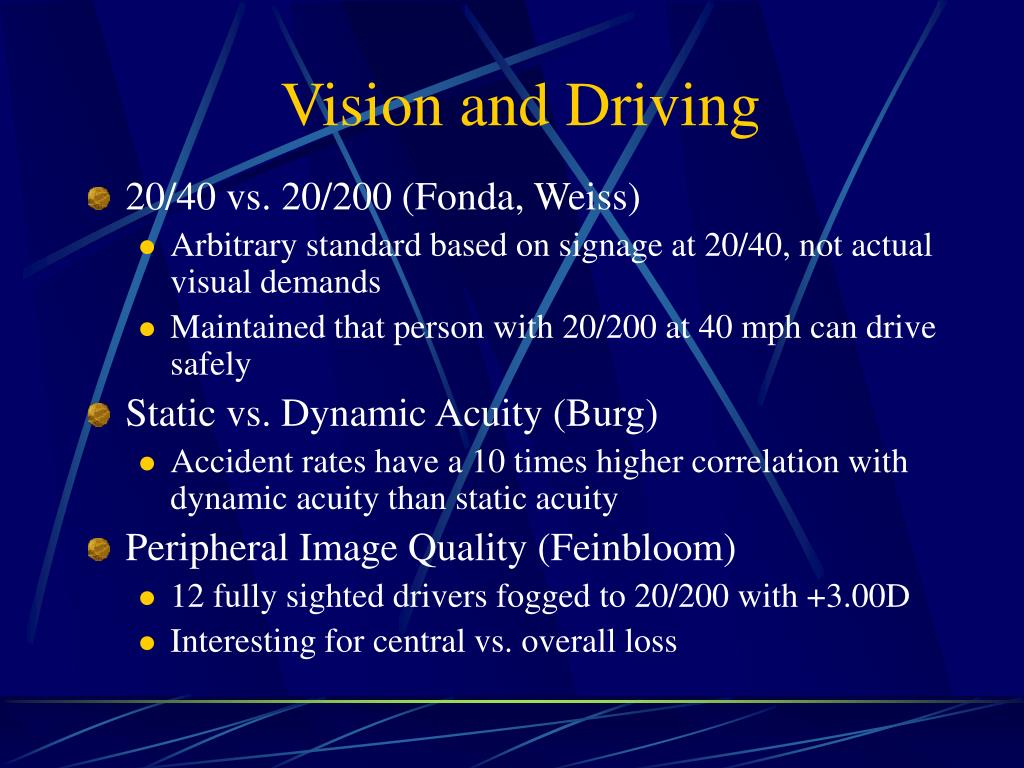 Vision and Driving