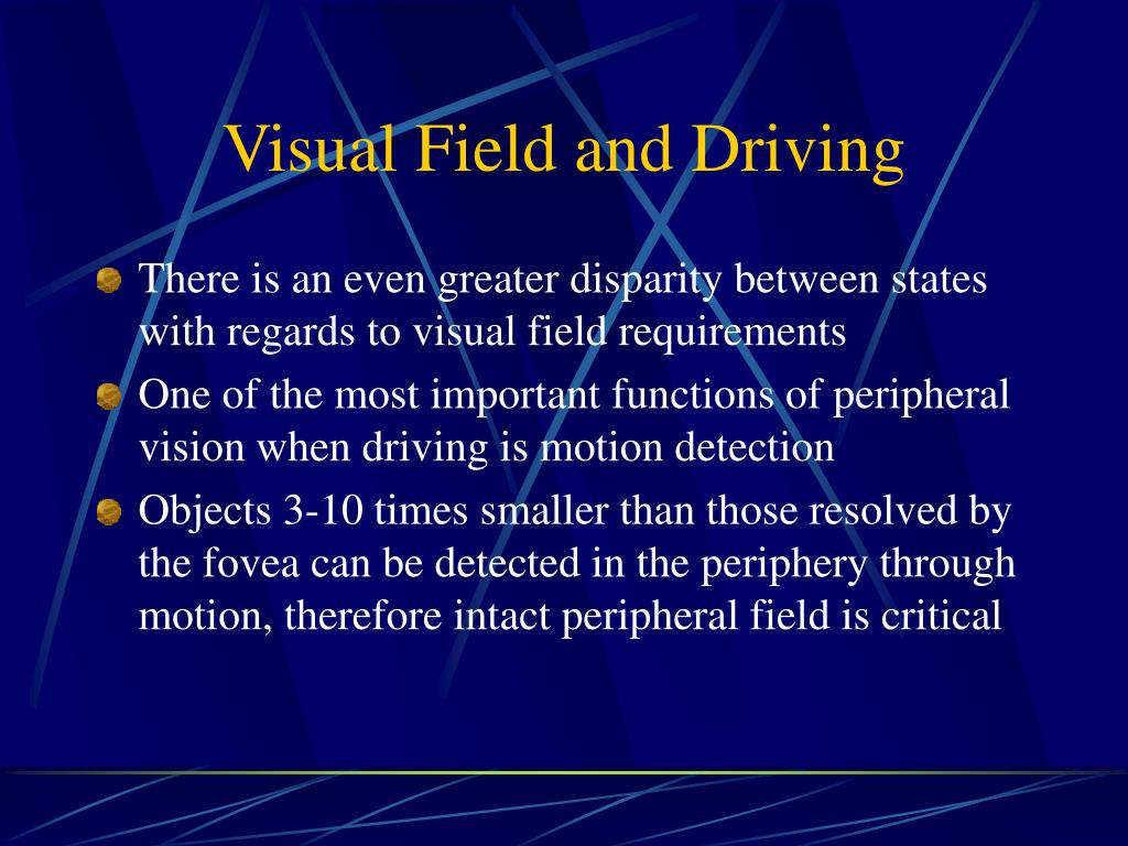 Visual Field and Driving