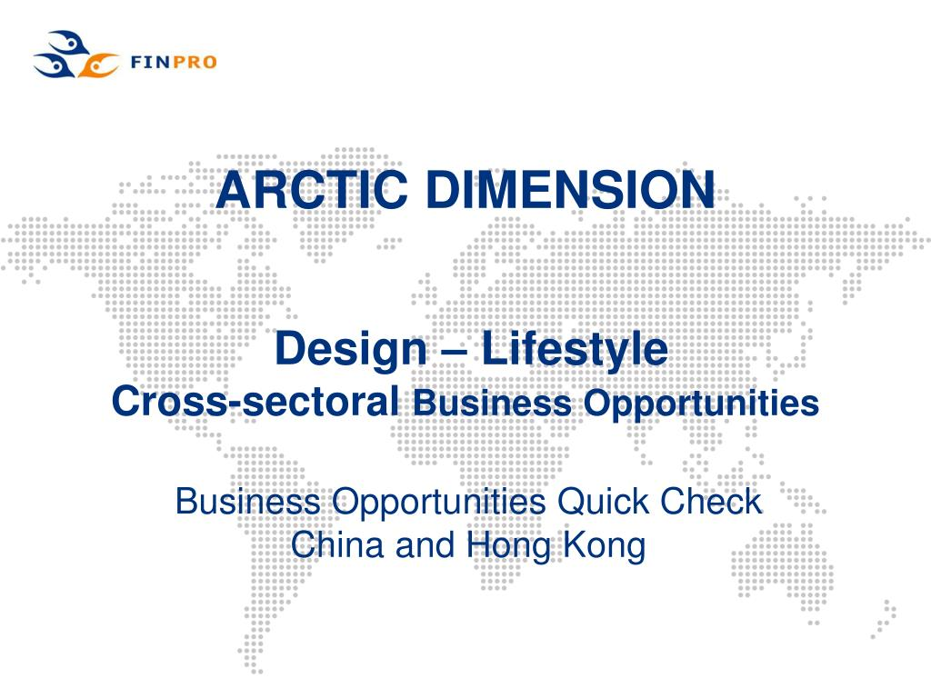 arctic dimension design lifestyle cross sectoral business opportunities