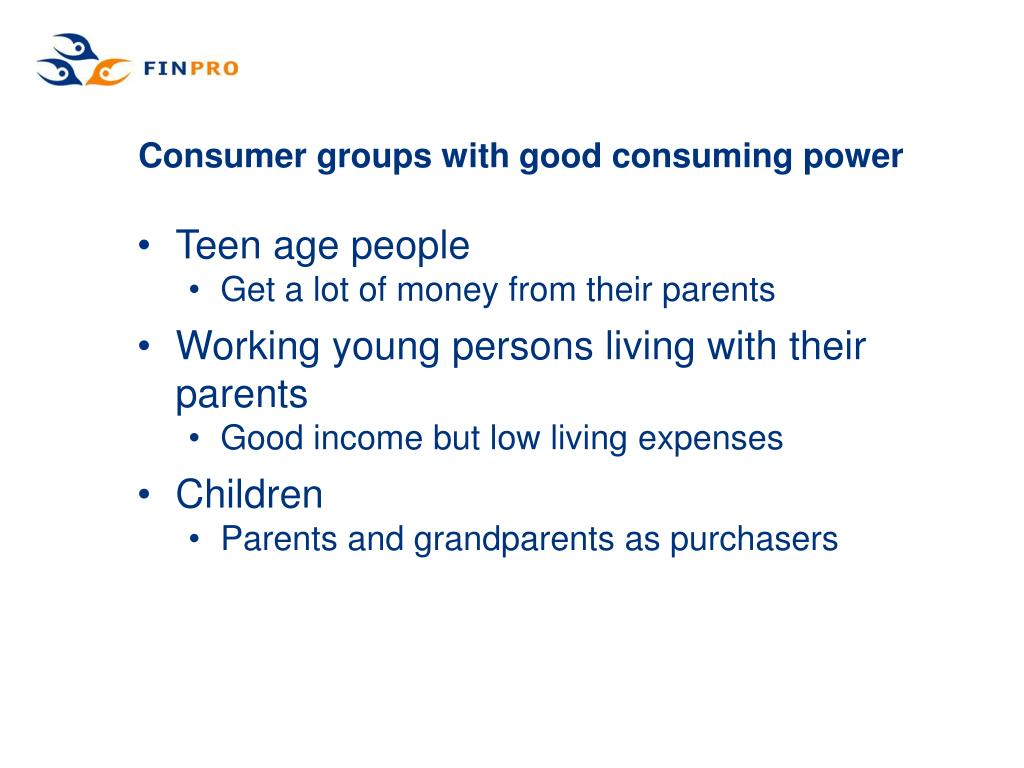 Consumer groups with good consuming power