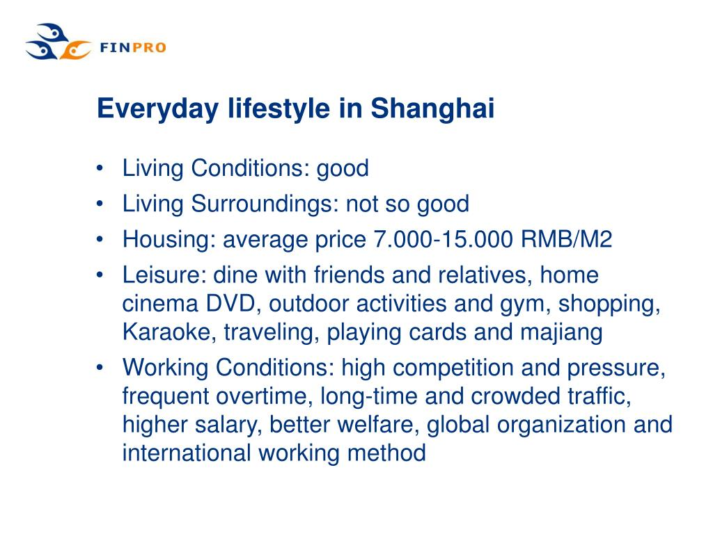 Everyday lifestyle in Shanghai