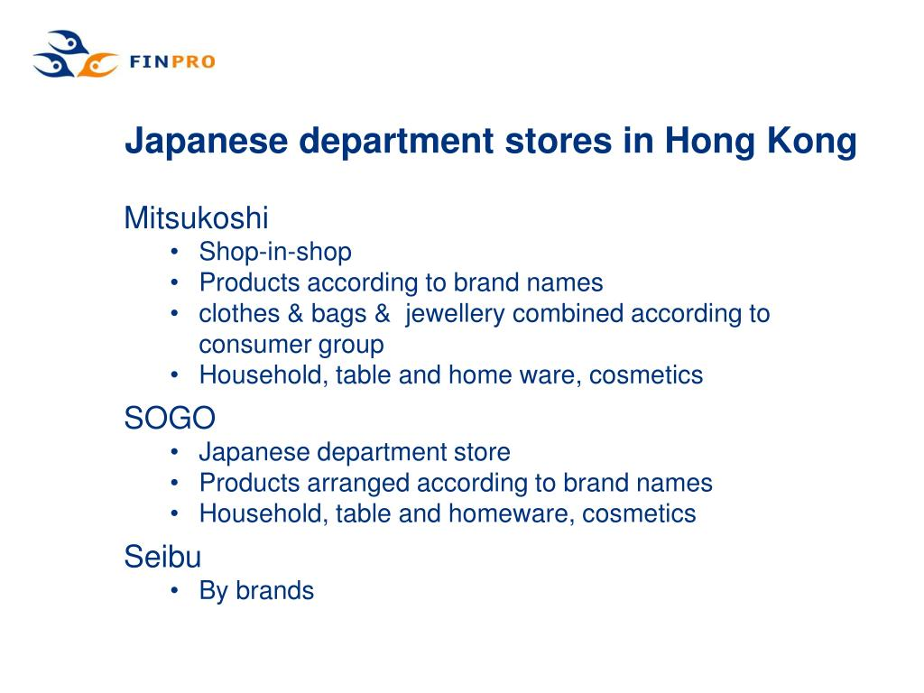 Japanese department stores in Hong Kong