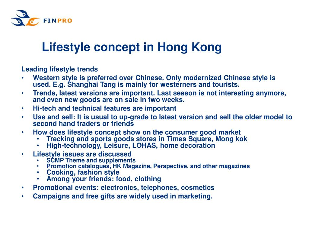 Lifestyle concept in Hong Kong