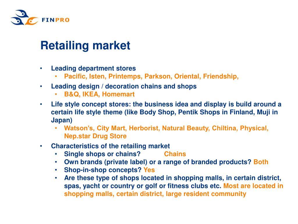 Retailing market