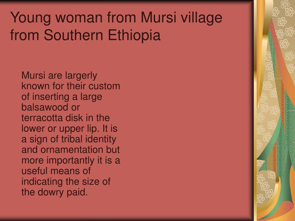 Young woman from Mursi village from Southern Ethiopia