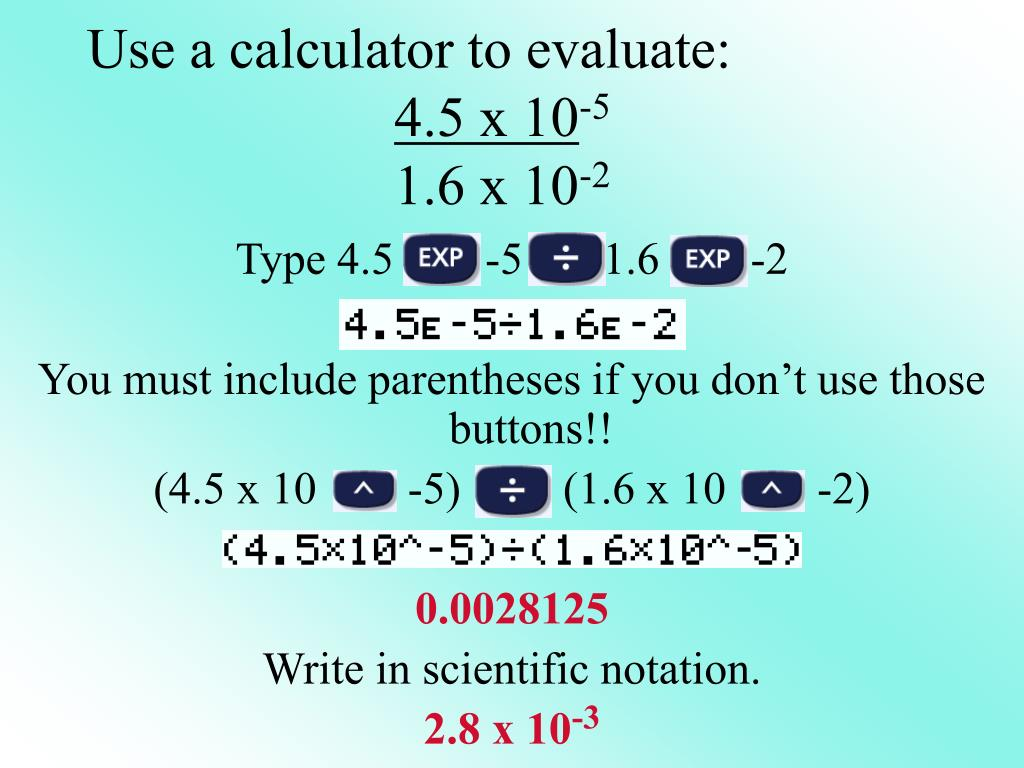 Use a calculator to evaluate: