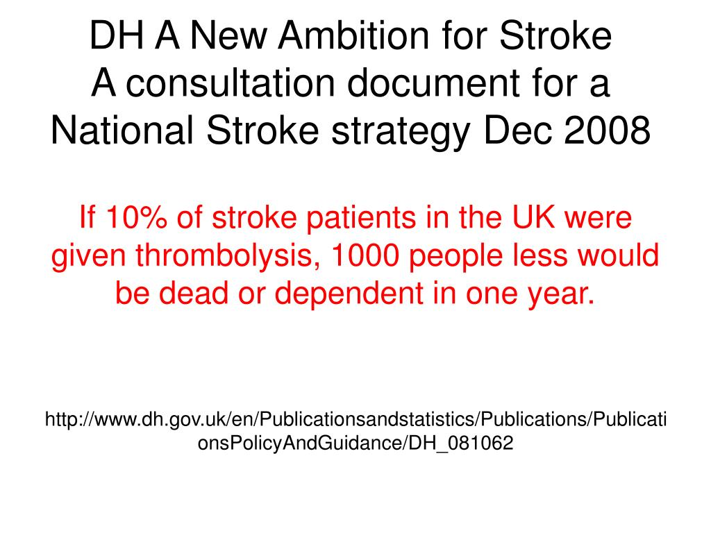 DH A New Ambition for Stroke