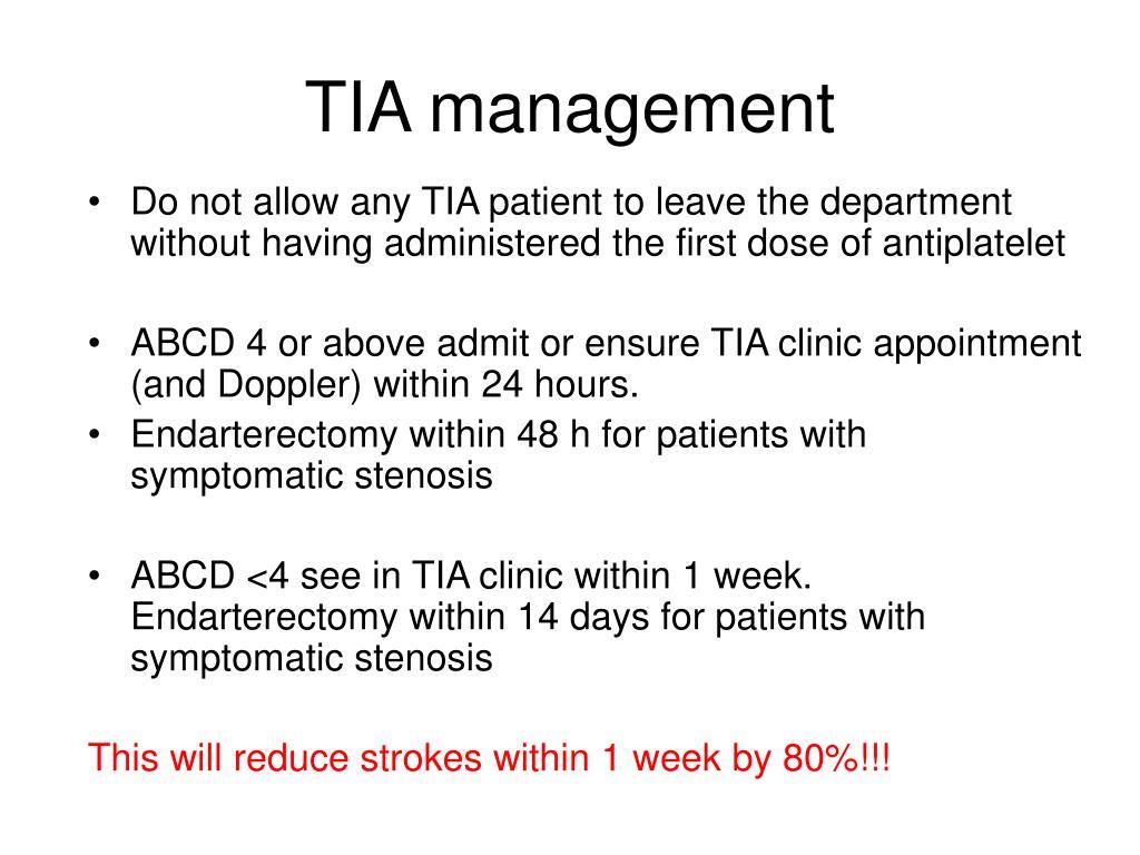TIA management