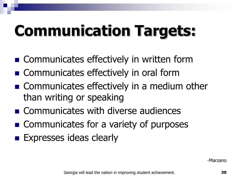 Communication Targets: