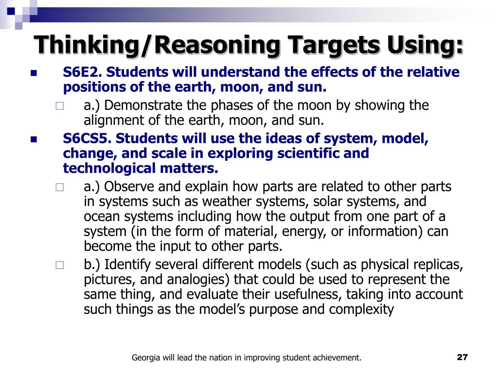 Thinking/Reasoning Targets Using: