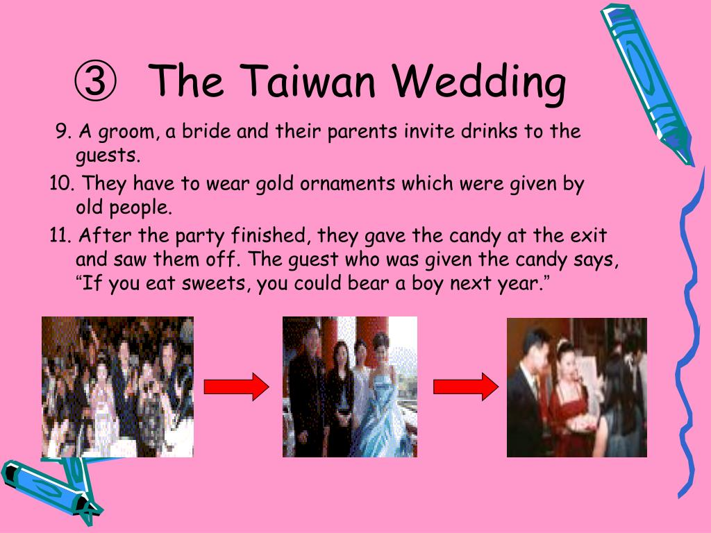 9. A groom, a bride and their parents invite drinks to the guests.