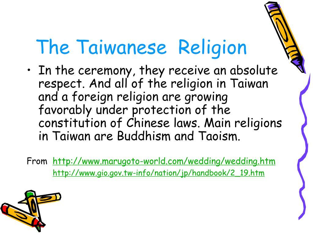 The Taiwanese  Religion