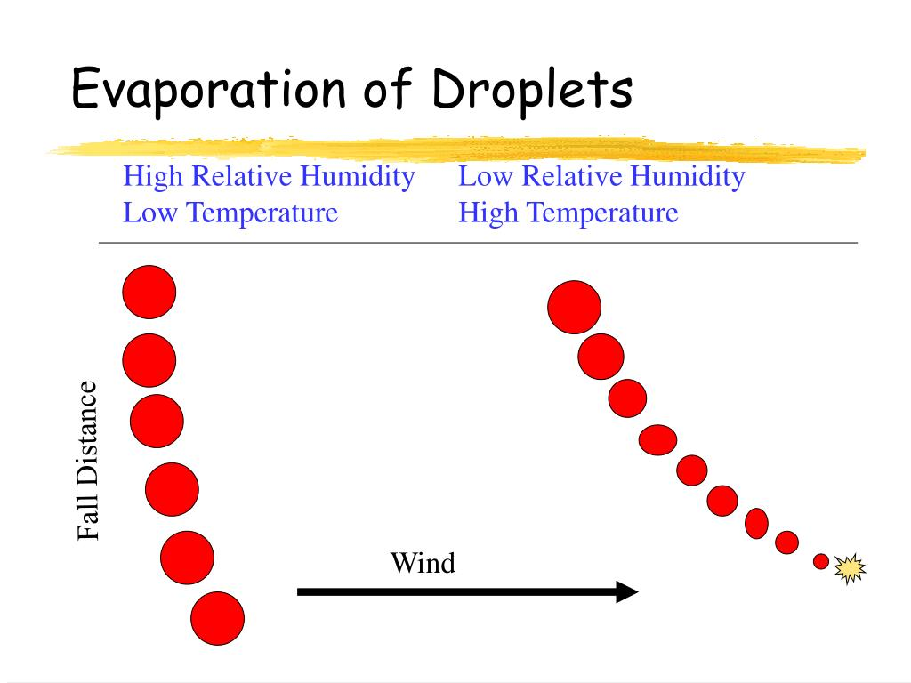 Evaporation of Droplets