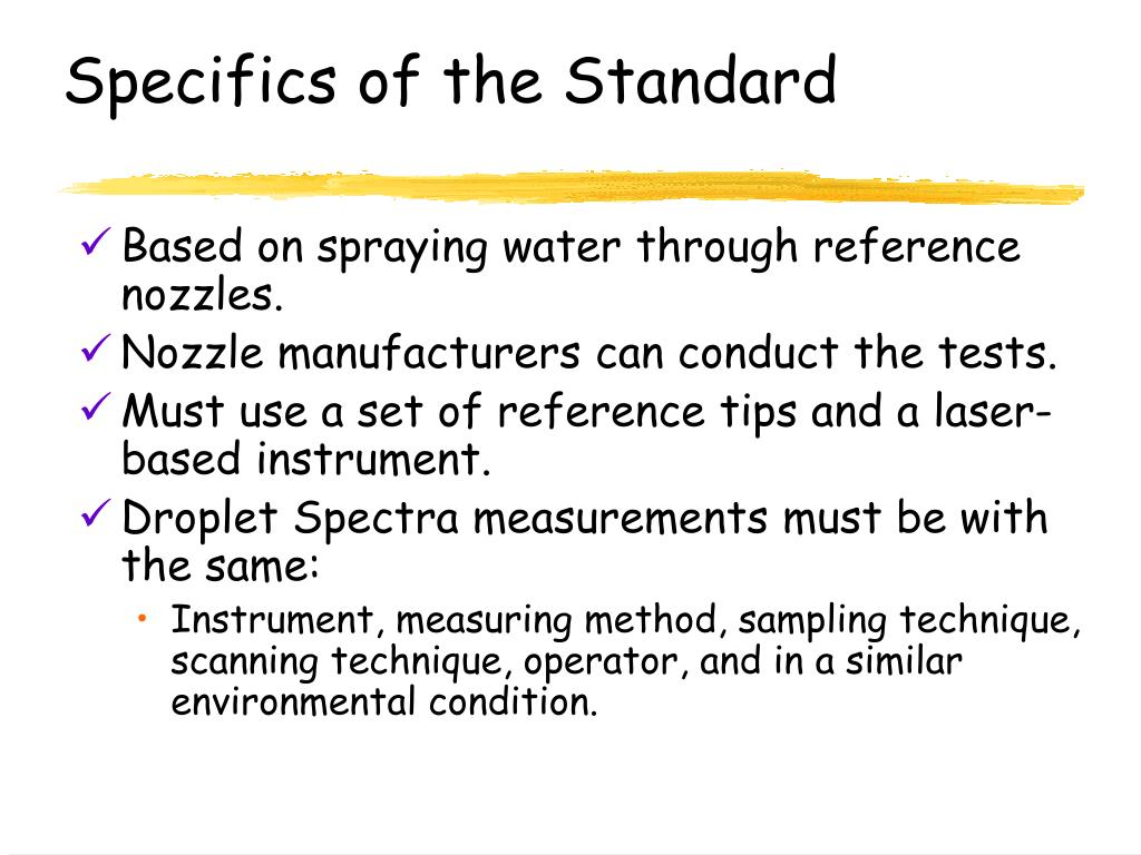 Specifics of the Standard