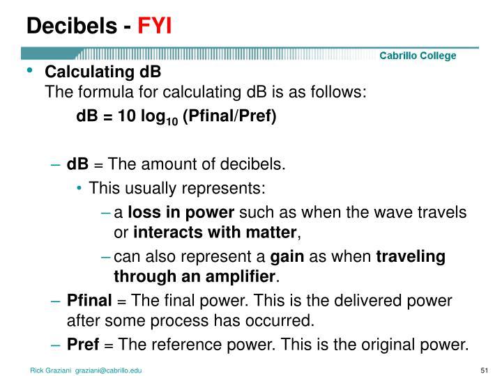 Decibels -