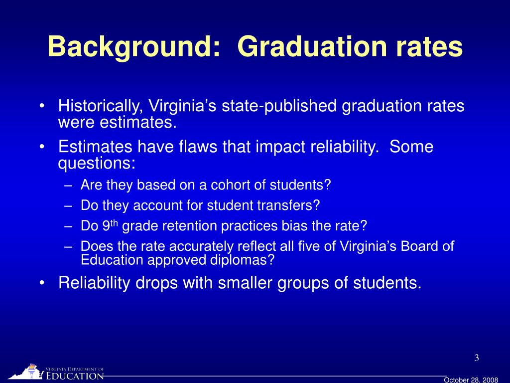 Background:  Graduation rates