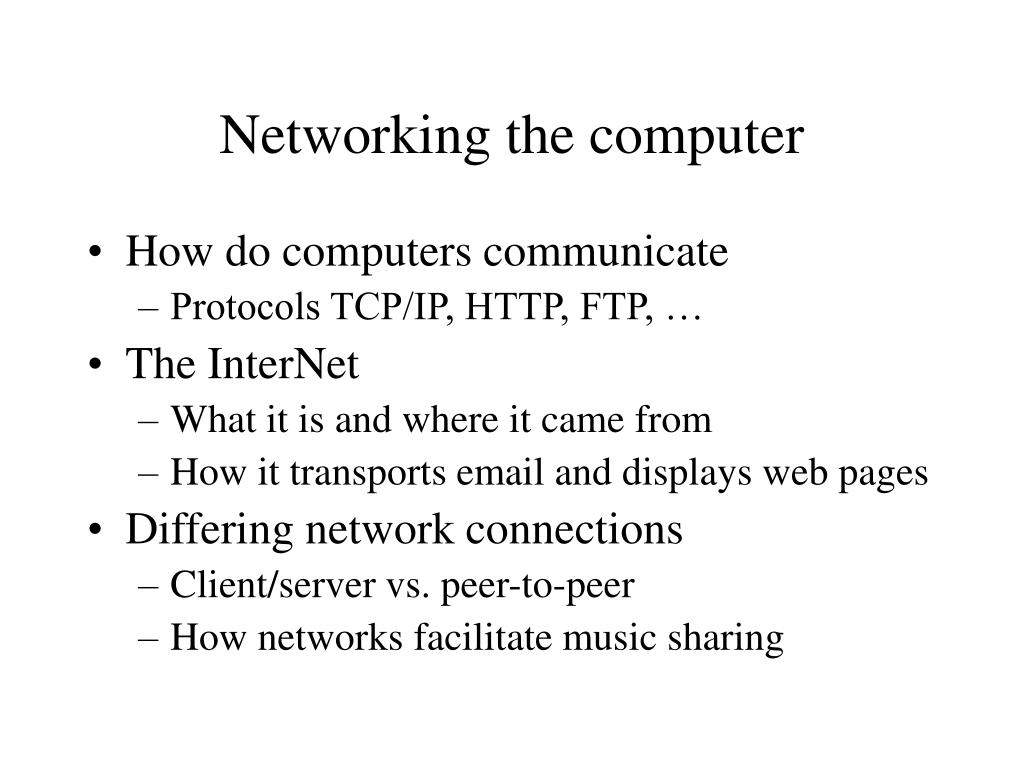 Networking the computer