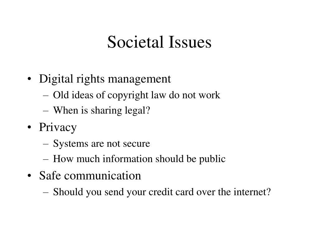 Societal Issues