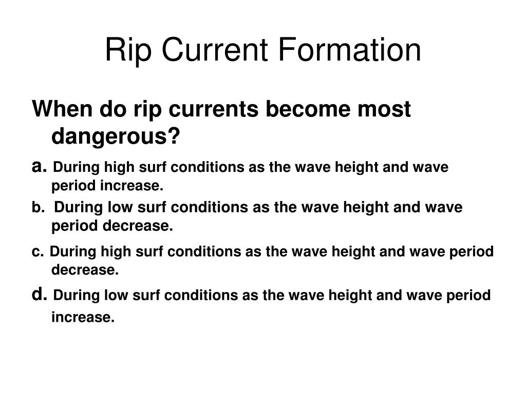 Rip Current Formation