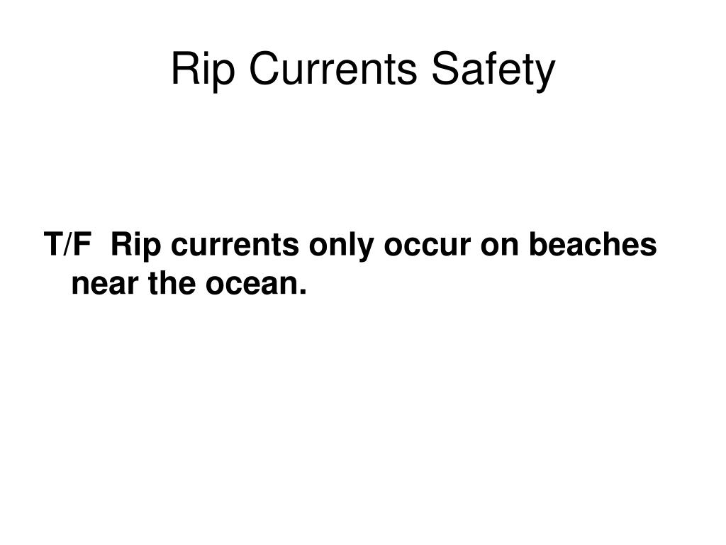 Rip Currents Safety