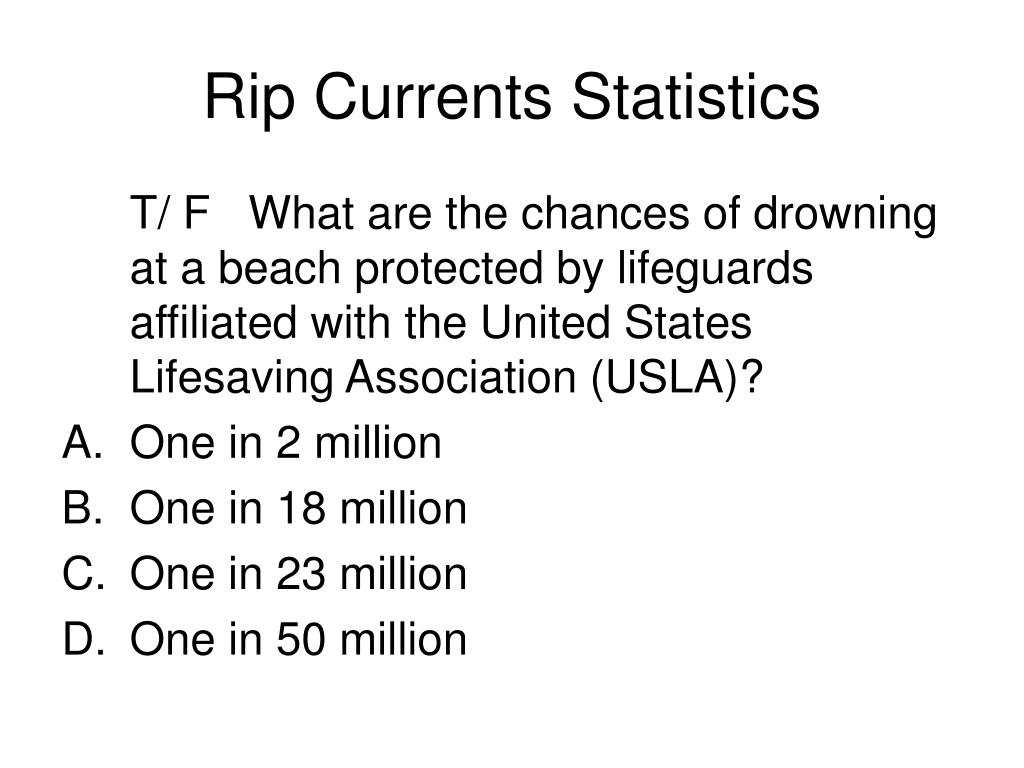 Rip Currents Statistics