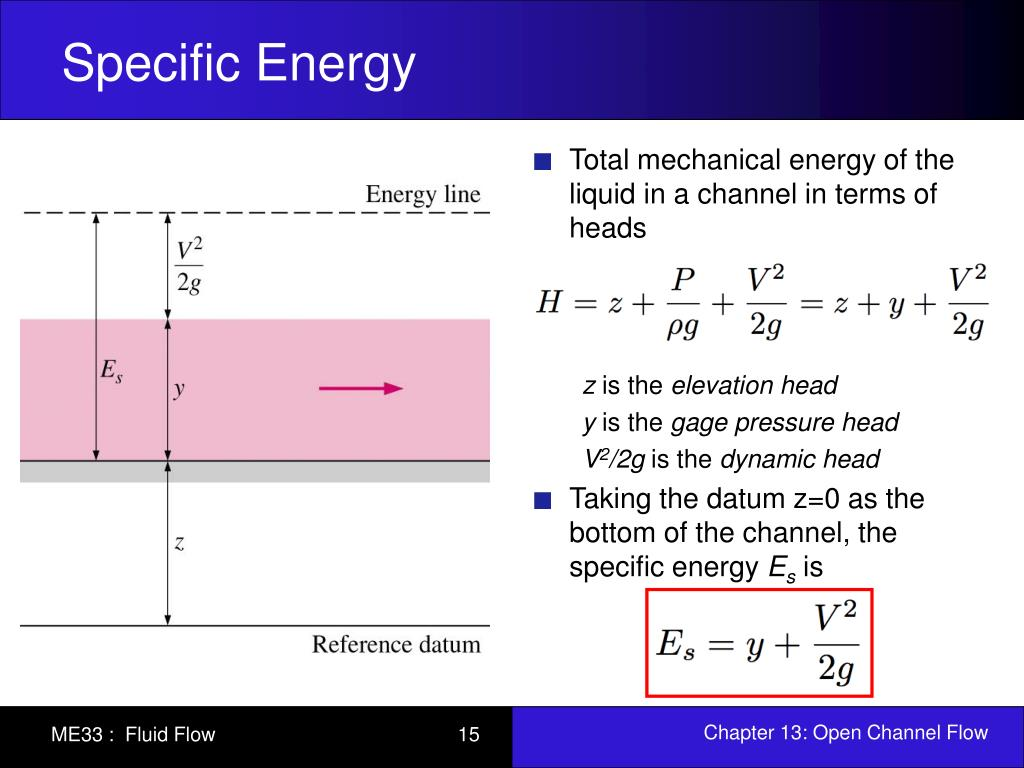specific energy 1 draft dated: october 1, 2013 hydraulic engineering lab instructor: john c walton, phd modified: september, 2007 specific energy and critical flow.