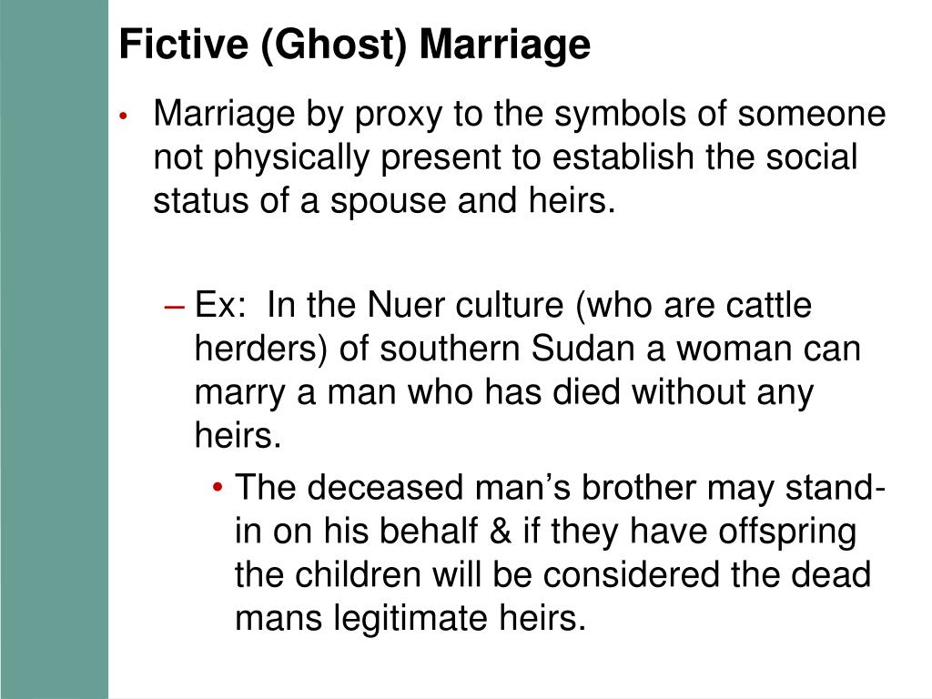 Fictive (Ghost) Marriage