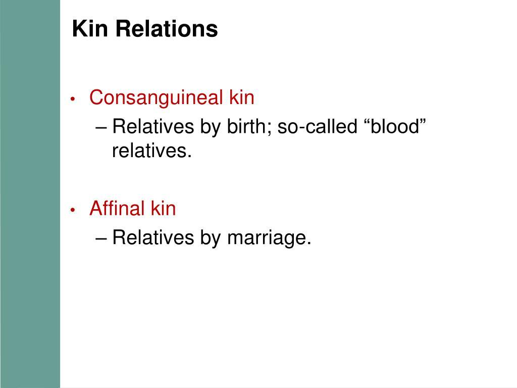 Kin Relations