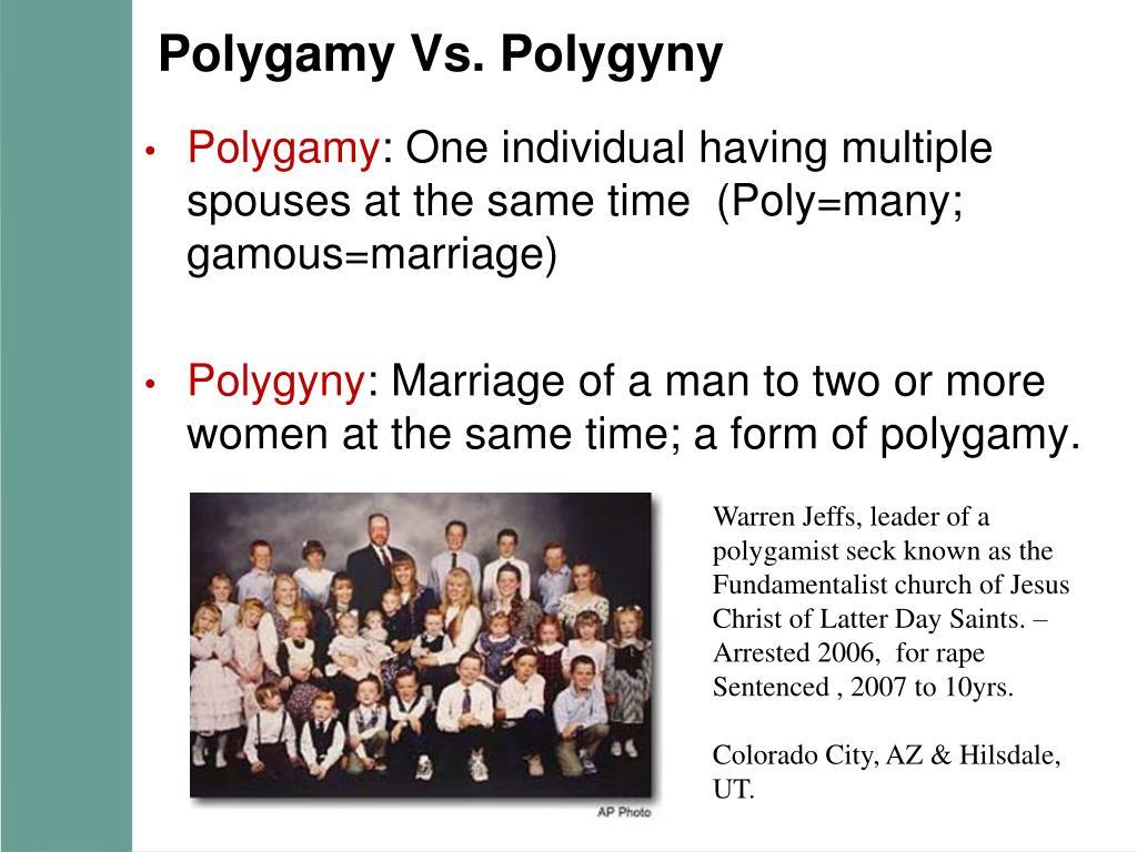 Polygamy Vs. Polygyny
