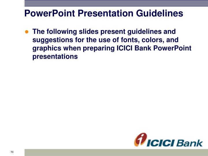 PowerPoint Presentation Guidelines