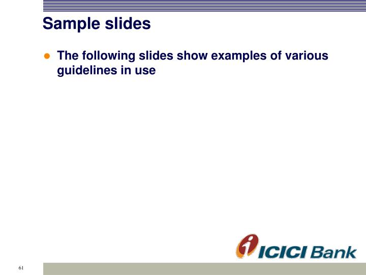 Sample slides