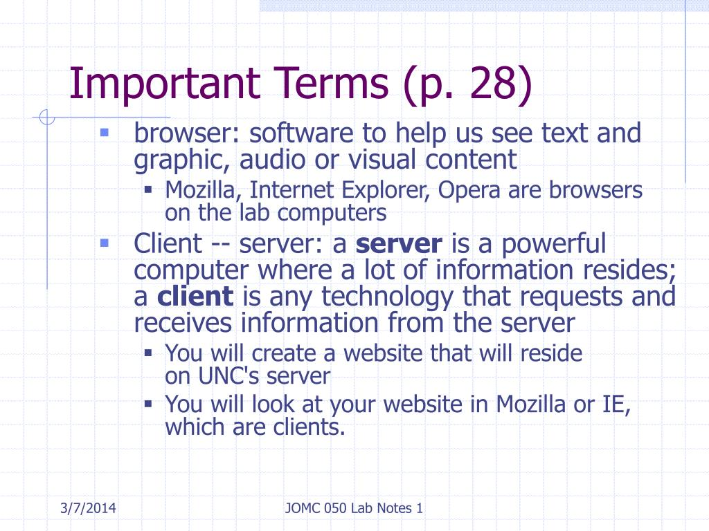 Important Terms (p. 28)