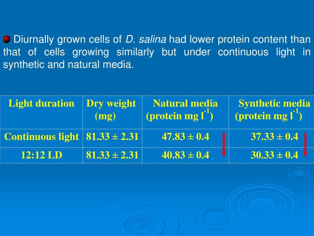 Diurnally grown cells of