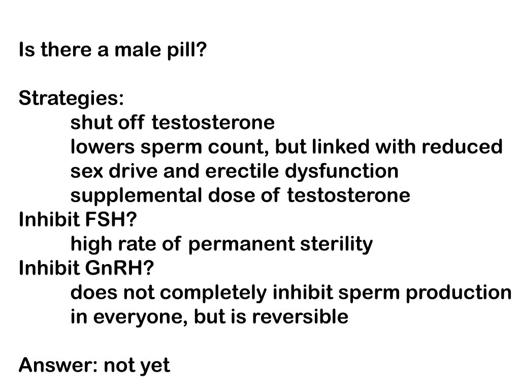 Is there a male pill?