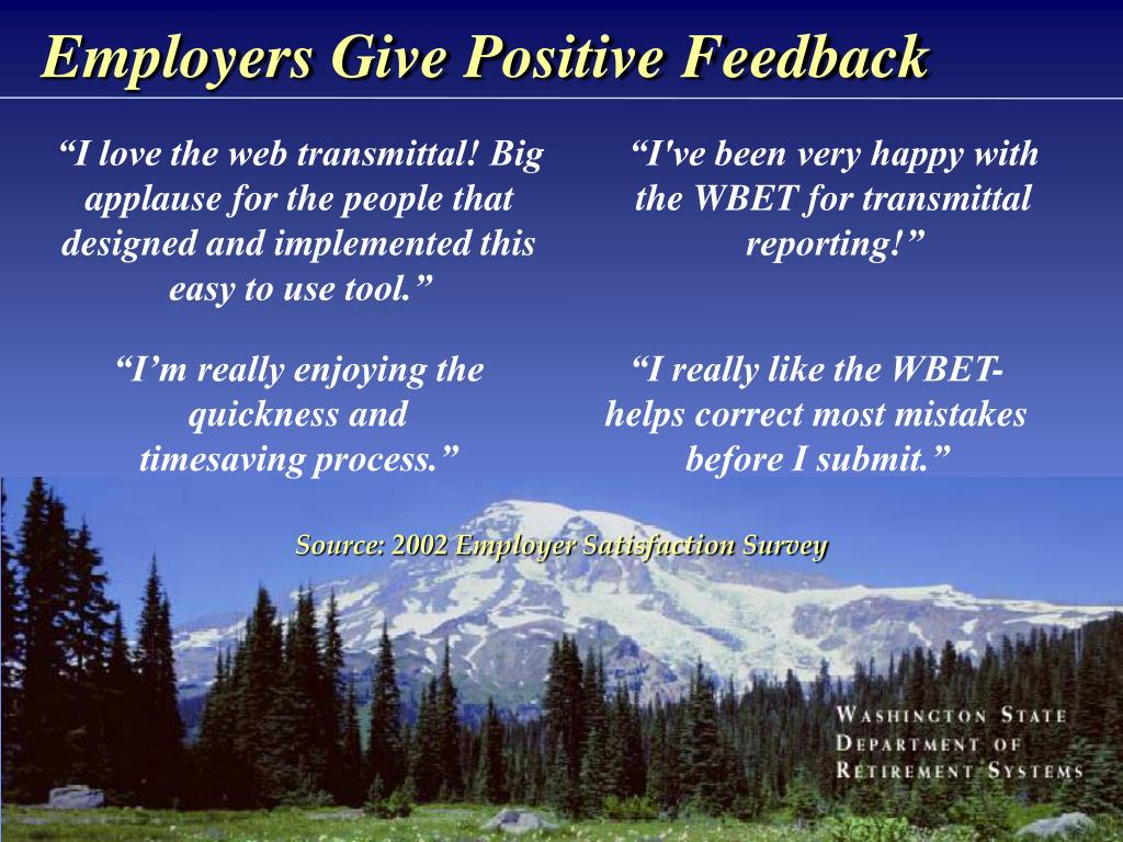 Employers Give Positive Feedback