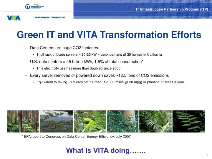 Green it and vita transformation efforts