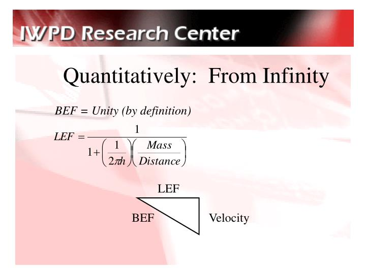 Quantitatively:  From Infinity