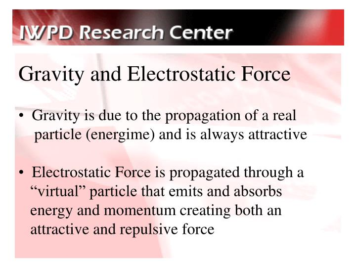 Gravity and Electrostatic Force