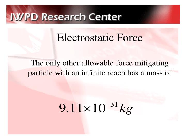 Electrostatic Force