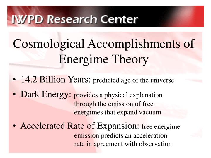 Cosmological Accomplishments of