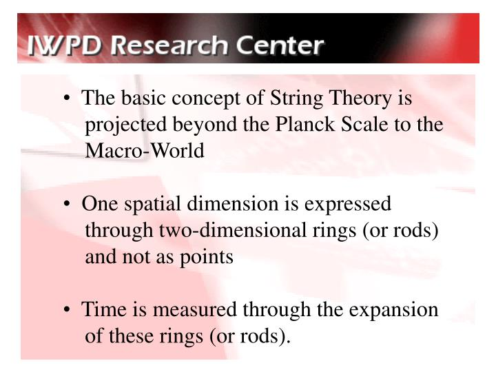 The basic concept of String Theory is