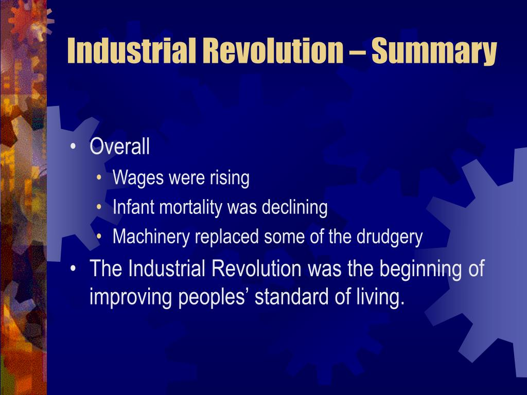 Industrial Revolution – Summary