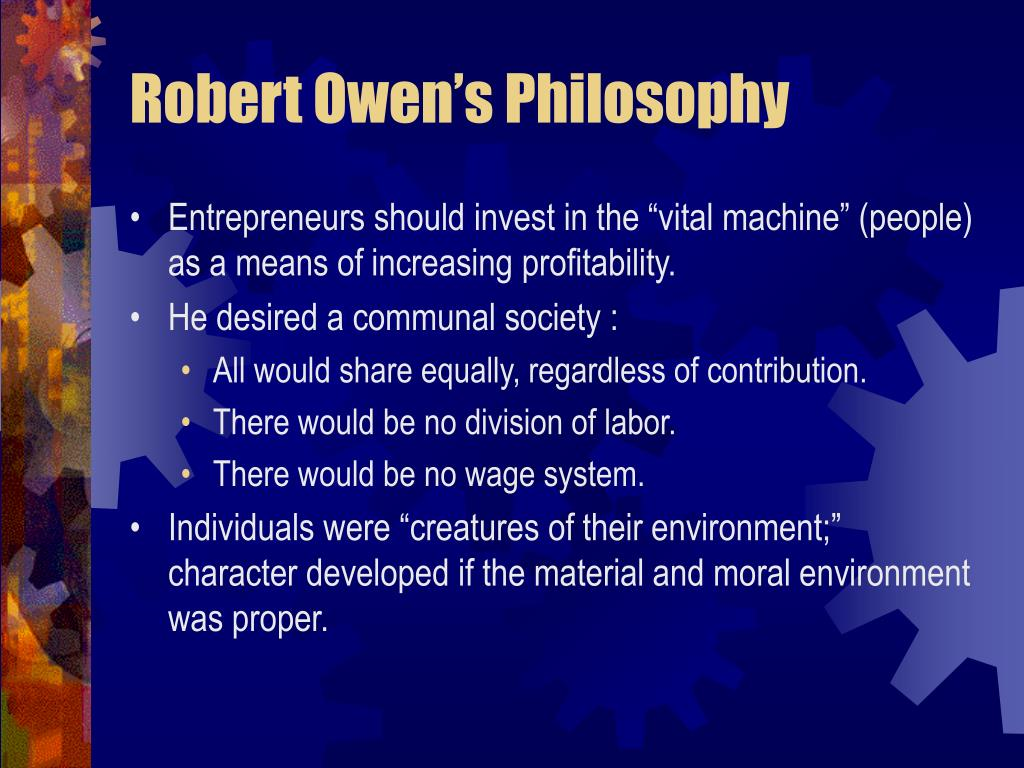 Robert Owen's Philosophy