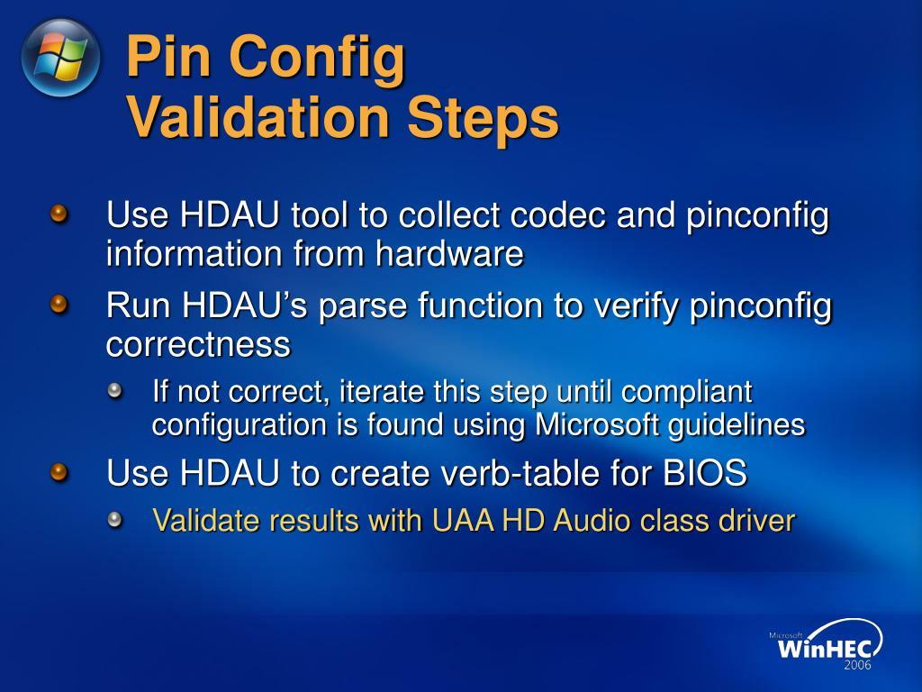 Pin Config