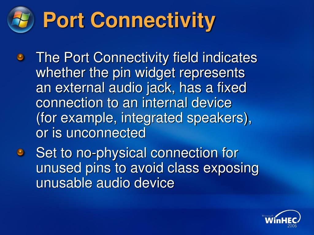 Port Connectivity
