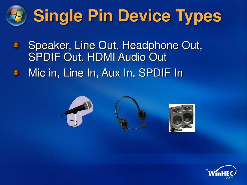 Single Pin Device Types