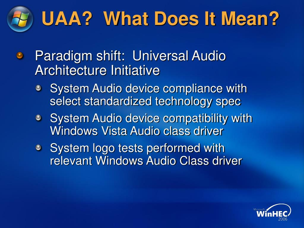 UAA?  What Does It Mean?