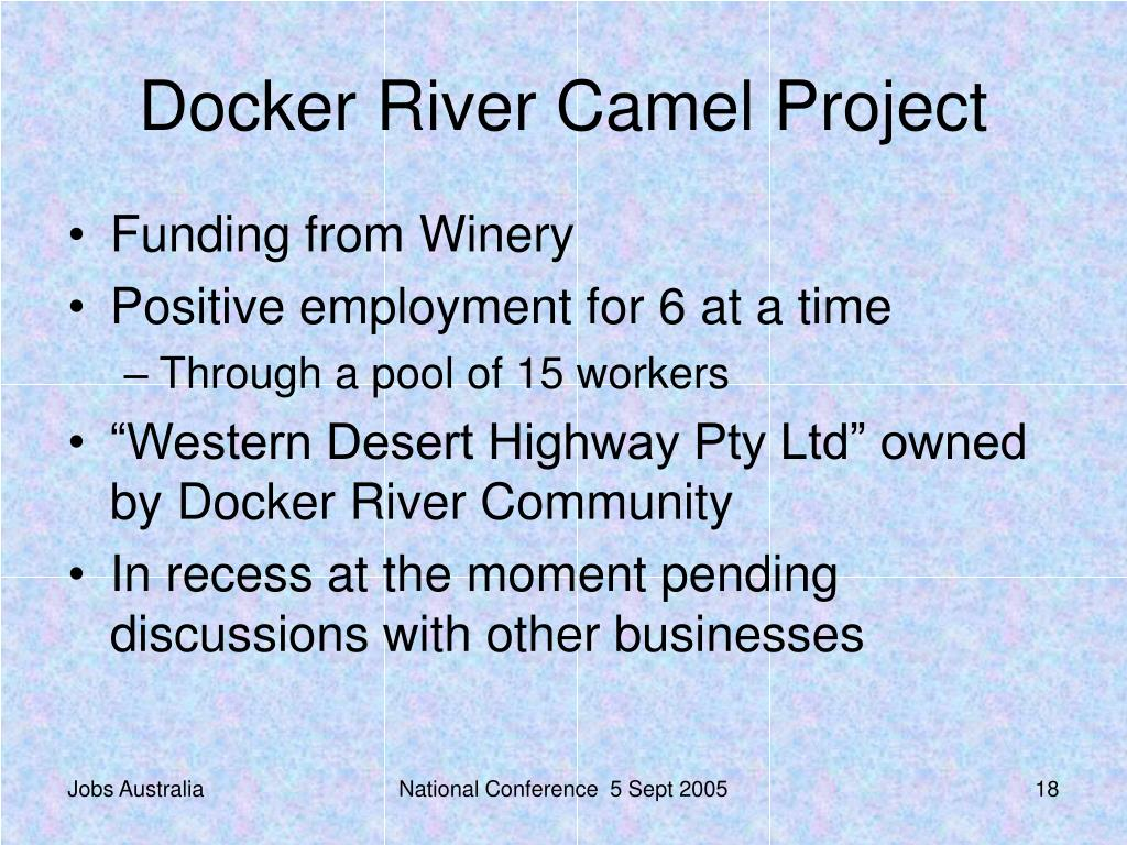Docker River Camel Project