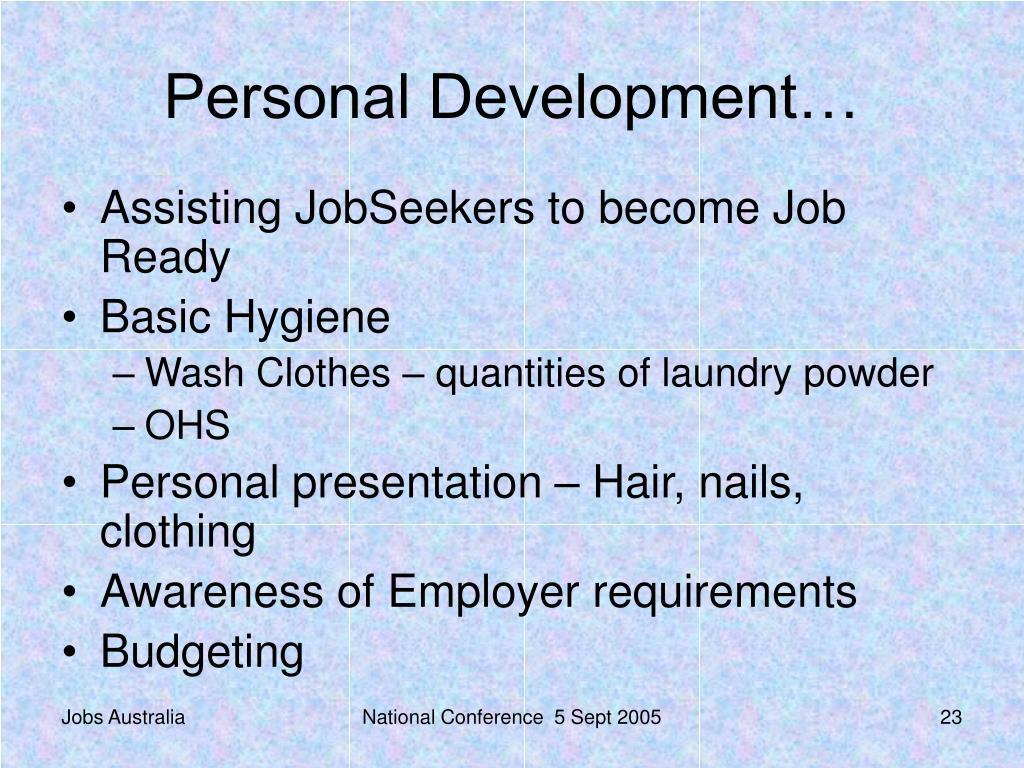 Personal Development…
